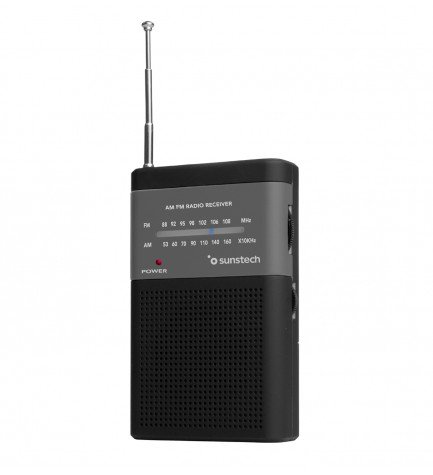Sunstech RPS42 - Radio, portátil, analógico, sintonizador AM FM, color Negro