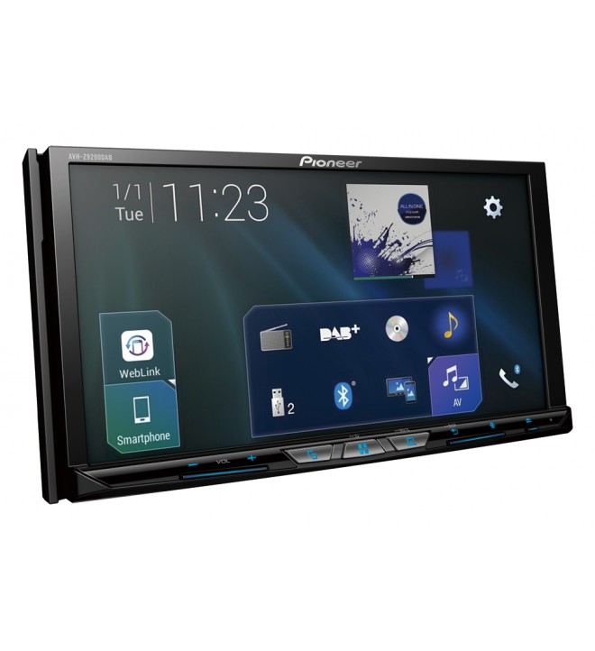 Pioneer AVH-Z9200DAB - Reproductor, multimedia, pantalla 7 pulgadas, bluetooth, puerto USB