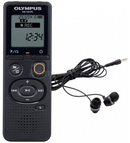 Olympus VN-541PC - Grabadora, memoria interna 4 GB, incluye auriculares E39, color Negro