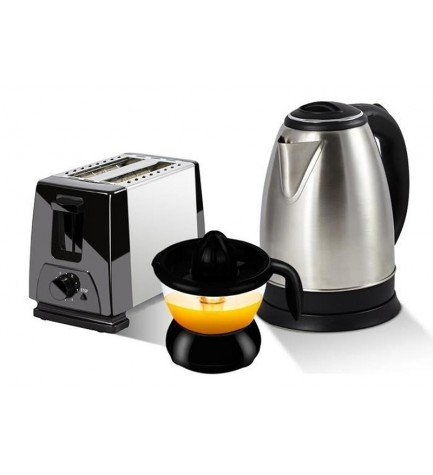 PEM KT-202 - Kit desayuno, incluye hervidora tostadora y exprimidor