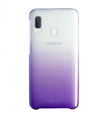 Samsung EF-AA202CB - Funda, para Galaxy A20, Clear View Cover, color Violeta