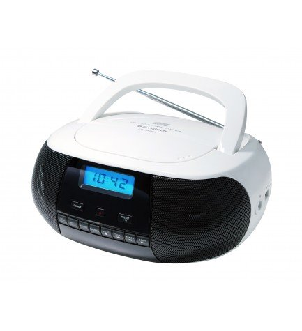 Sunstech CRUSM400 - Reproductor portátil, lector de CD, color Blanco