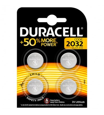 Duracell CR-2032 - Pilas, pack 4