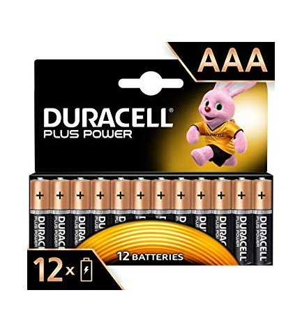 Duracell LR03 Plus Power - Pilas, pack 12