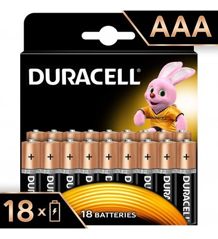 Duracell LR03 Plus Power - Pilas, pack 18