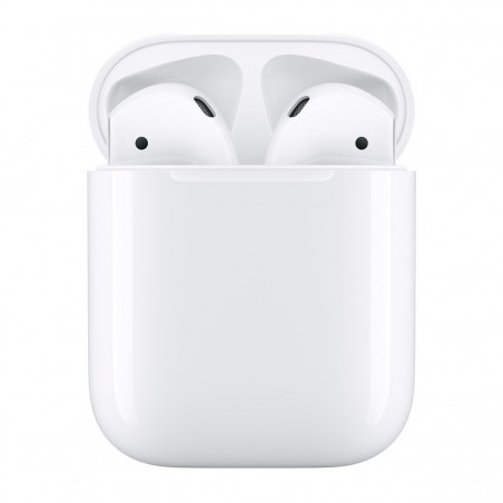 Apple Airpods 2 -Auriculares de botón Apple AirPods 2ª Generación con estuche de carga, color Blanco
