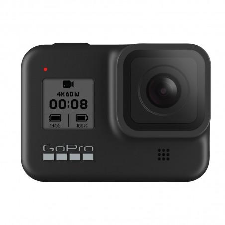 GoPro Hero 8 BLACK- Cámara de acción, resolución 12 Mpx, WiFi, Bluetooth, GPS, pantalla táctil, color Negro