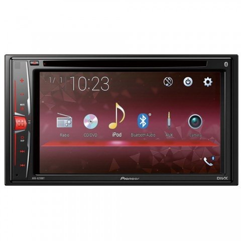 Pioneer AVH-A210BT, Radio con pantalla táctil, Bluetooth, Reproductor de CD, DVD, MP3, Manos Libres, WAV, AUX, AAC, DivX