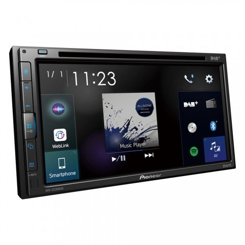 "Pioneer AVH-Z5200DAB, reproductor multimedia táctil de 6.8"", 2-DIN, Apple CarPlay, Android Auto, Radio, Bluetooth"