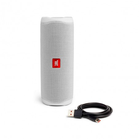 JBL Flip 5 - Altavoz Bluetooth, potencia 20W color Blanco