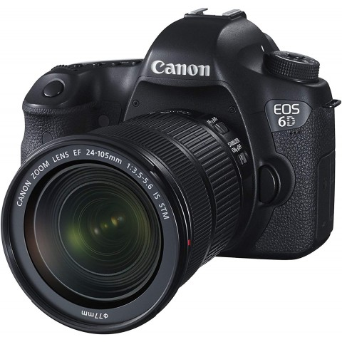 Canon EOS 6D + Objetivo EF 24-105mm, 26.2MP, color Negro
