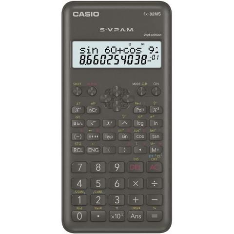 Casio FX-82MS-2 - Calculadora científica, color Gris