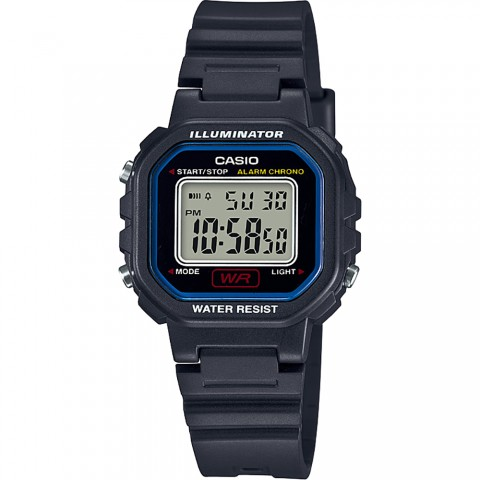 Reloj Digital CASIO LA-20WH-1C, correa de caucho, color Negro