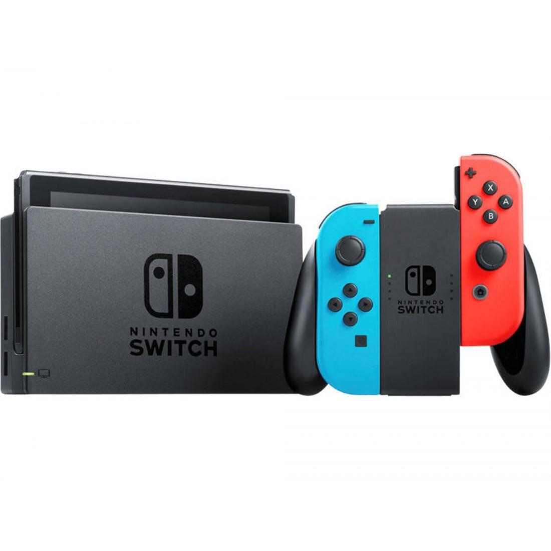 Consola Nintendo Switch V2 (32 GB - Azul y Rojo Neón)