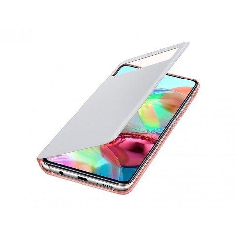 Samsung S View Wallet Cover, funda para Galaxy A71, color Blanco