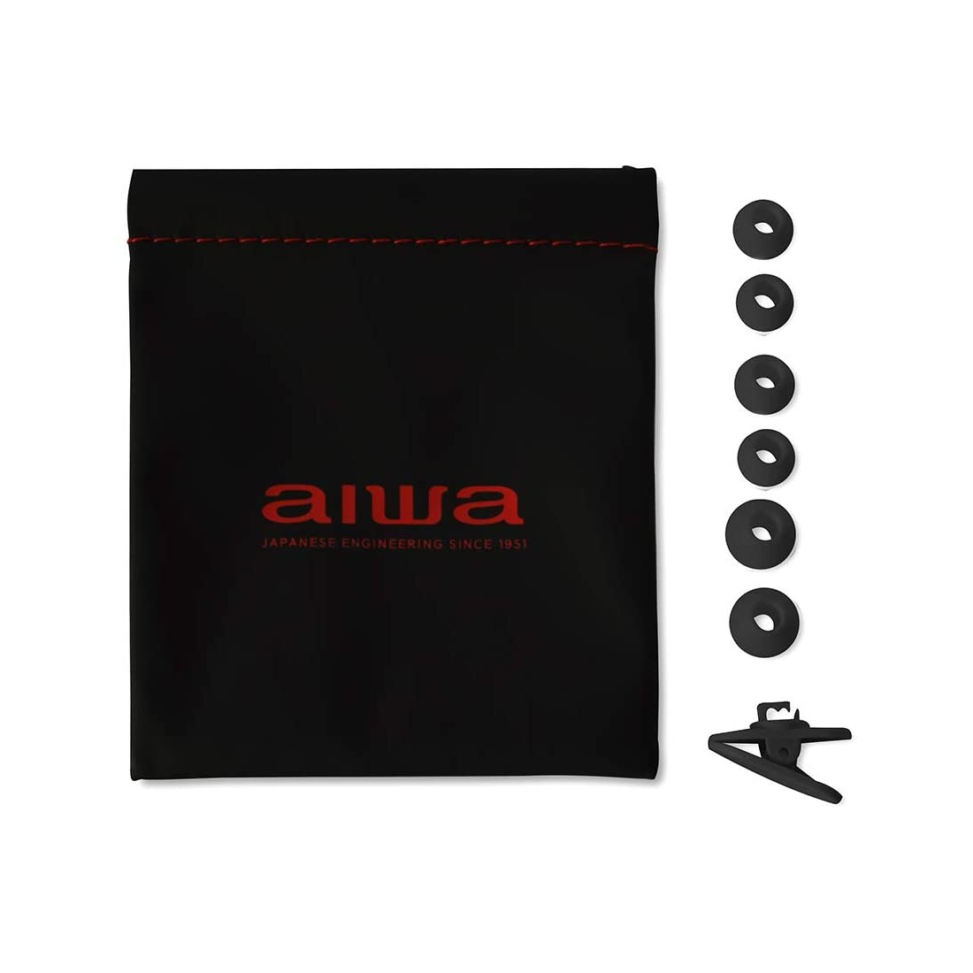 Aiwa ESTM-500BK, Auriculares In-Ear, Jack 3.5 mm, 3x11x24, color Negro