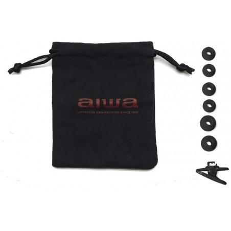 Aiwa ESTM-100BK, Auriculares In-Ear, Jack 3.5 mm, color Negro