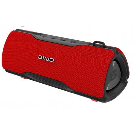 AIWA BST-500RD, Altavoces Bluetooth v5.0, 24W, color Rojo