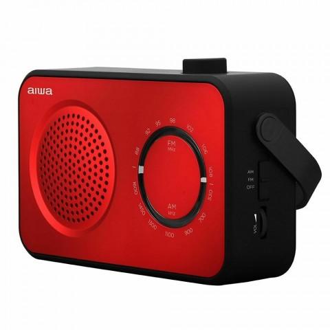 AIWA radio portátil R-190RD Color Negro/Rojo