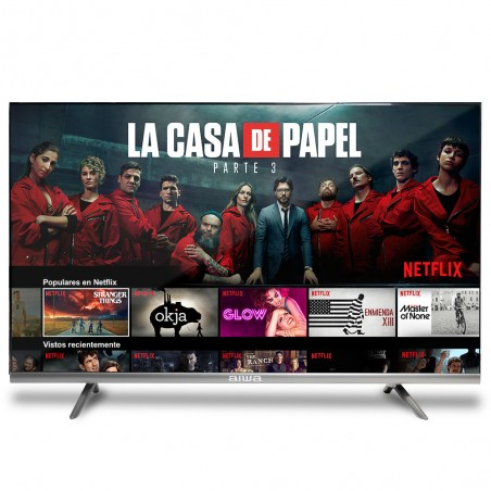 "Televisor LED AIWA 40"", SmartTV,Full HD, Wi-Fi, Netflix, color Negro"