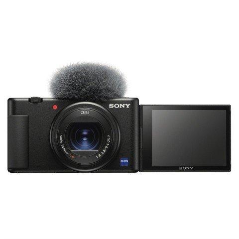 Cámara Sony ZV-1para videoblogs, youtubers, 20.1 Mpixels, f1.8-2.8, WiFi, color Negro