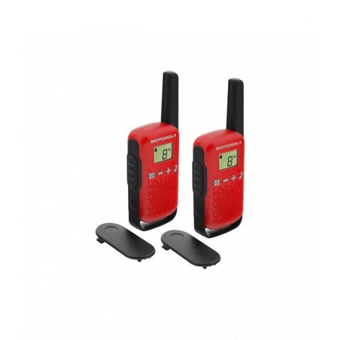 Motorola T42 Walkie Talkie, 4km, 16ch, color Rojo