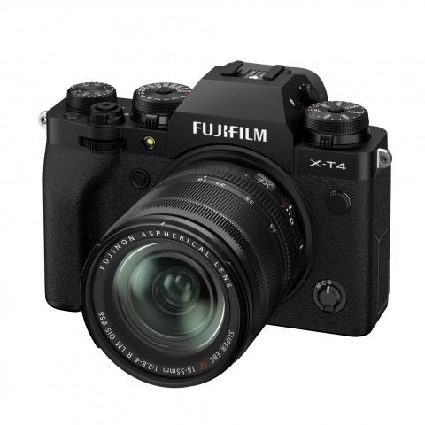 Cámara Evil Fujifilm X-T4 + Objetivo XF18-55mm, Wifi, Bluetooth, color Negro