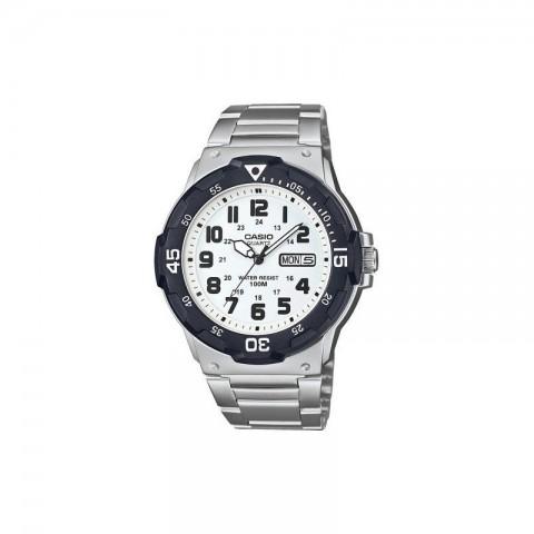 Reloj Casio MRW-200HD-7B, acabado en acero, color esfera Blanco