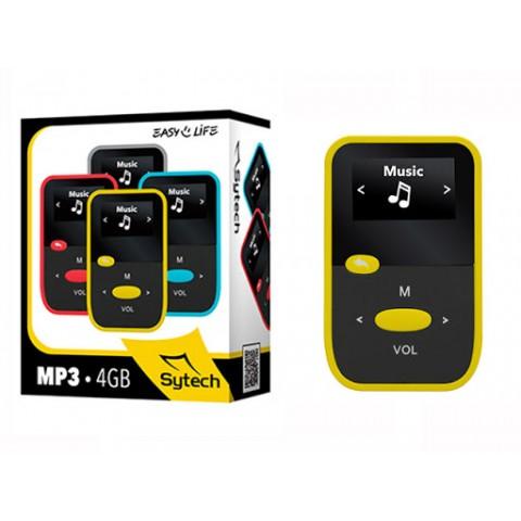 Reproductor SYTECH MP3, Radio FM, SD, Grabador, 4Gb, color Amarillo