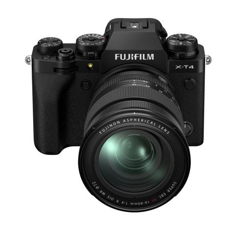 Cámara Fujifilm Evil XT-4  con Objetivo XF16-80mm, 26.1Mp, WiFi, Bluetooth, color Negro