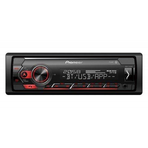 Radio Pioneer MVH-S420BT, 1-DIN, bluetooth, iluminación roja, USB, Spotify, Android/Apple