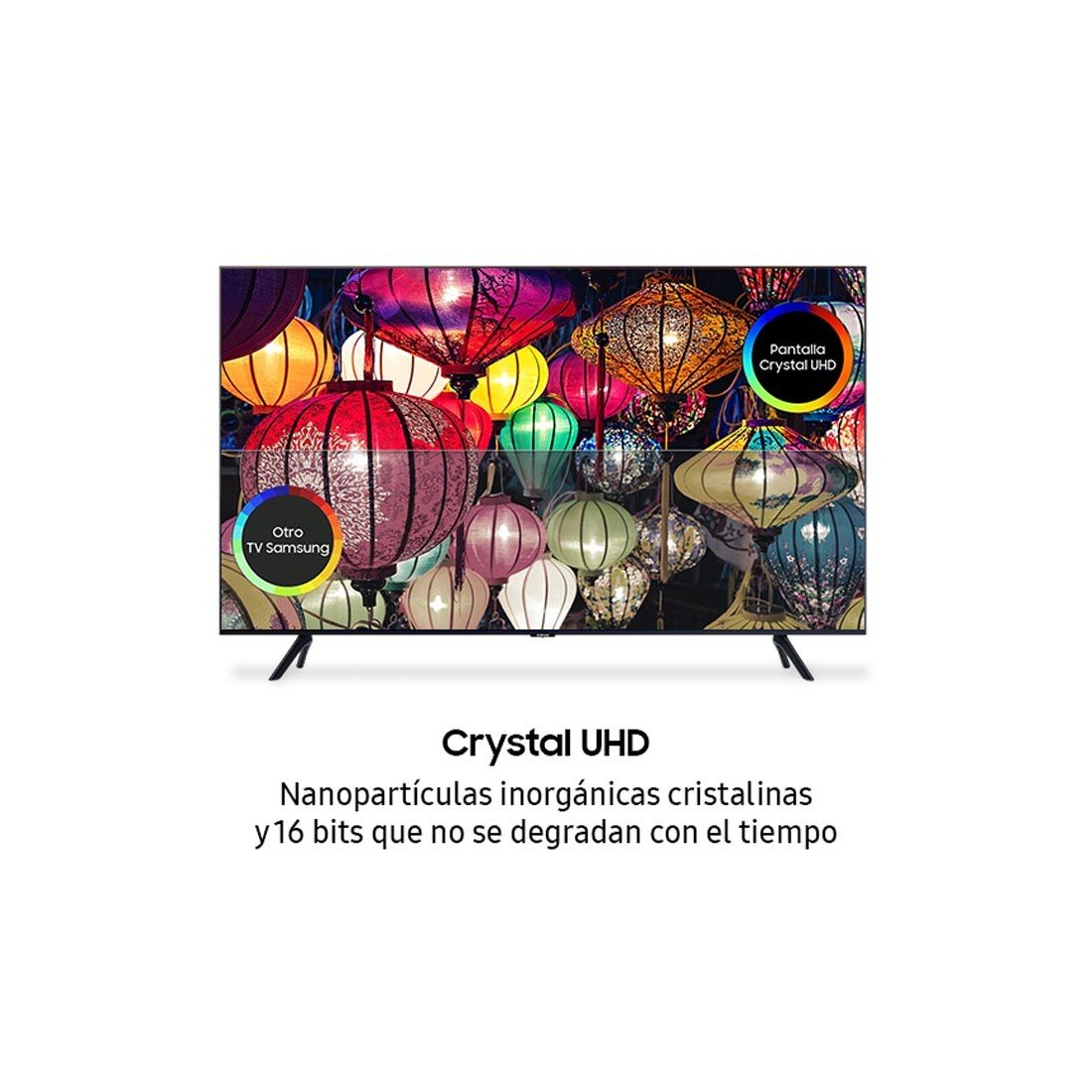 "Televisor LED 55"" Samsung TU8005K, UHD, Smart TV, 4K/HDR 10+(HLG), color Negro"