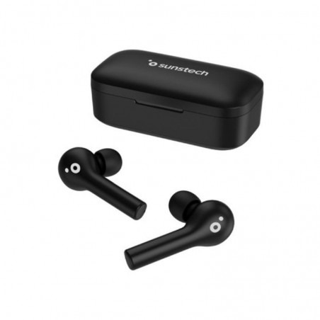Auriculares inalámbricos SUNSTECH WAVEPODS TOUCH, Bluetooth, color Negro