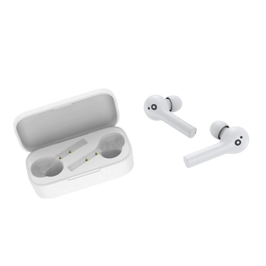 Auriculares inalámbricos SUNSTECH WAVEPODS TOUCH, Bluetooth, color Blanco