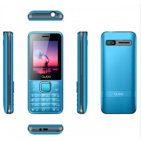 "Teléfono móvil QUBO X229, pantalla 2.4"", Bluetooth, Radio FM, color Azul"
