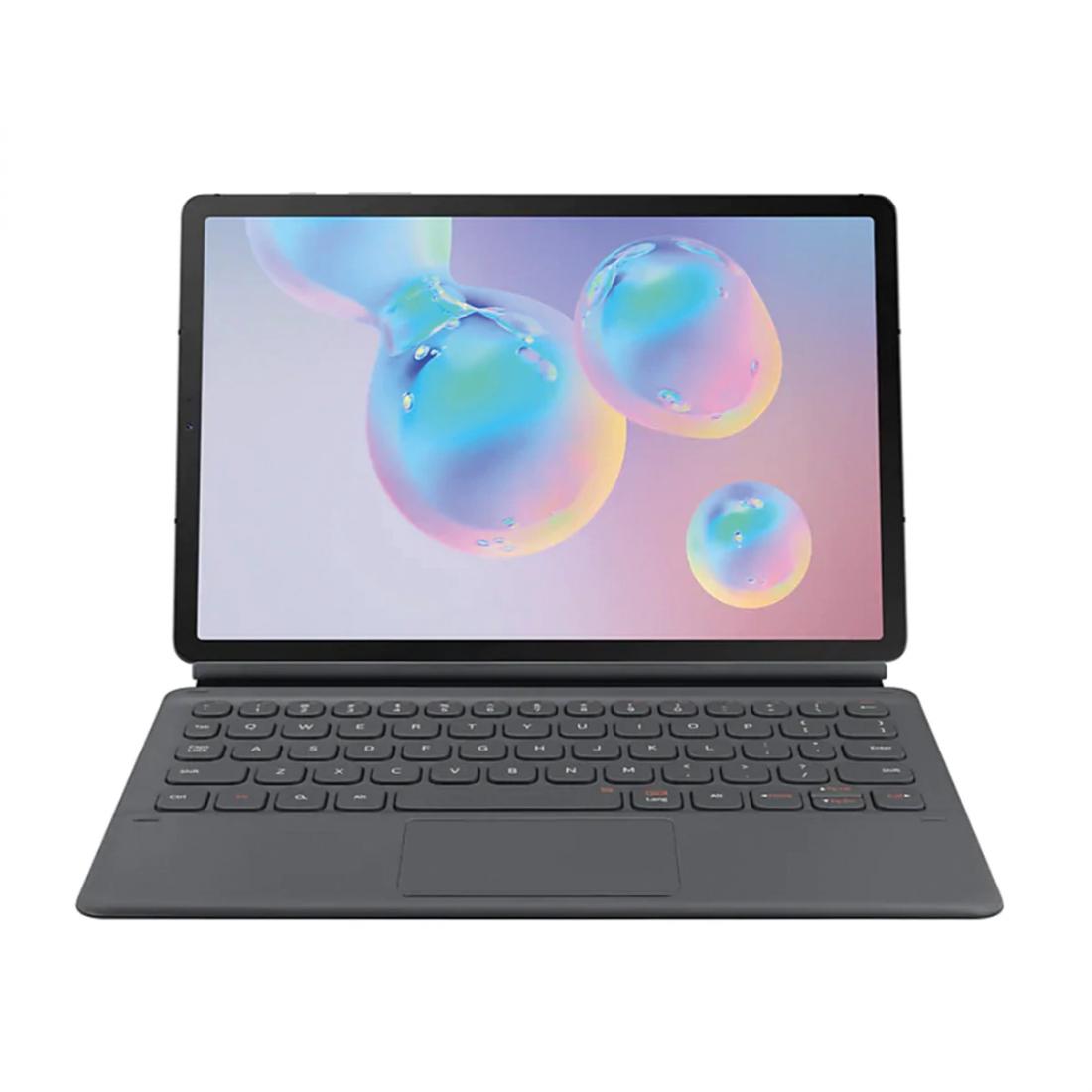 Funda con teclado Samsung EF-DT860 Keyboard Book Cover para Galaxy Tab S6, color Gris