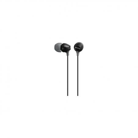 Auriculares de botón Sony MDR-EX15AP, color Negro