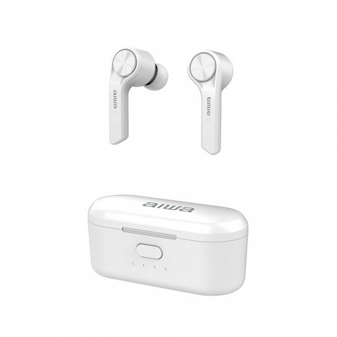 Auriculares inalámbricos AIWA TWS ESP-350BK, Bluetooth, color Blanco
