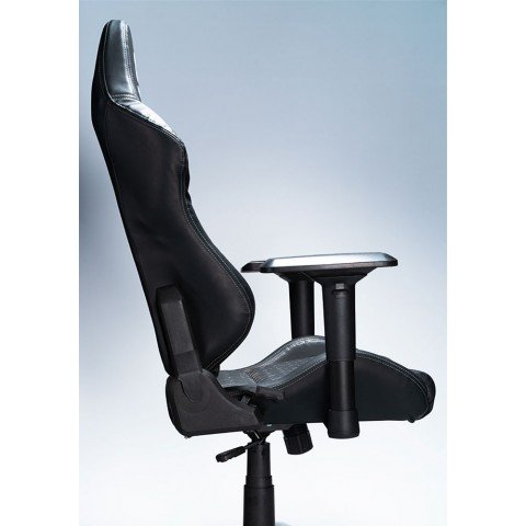 Silla Gaming Millenium MC2, cuero, color Negro