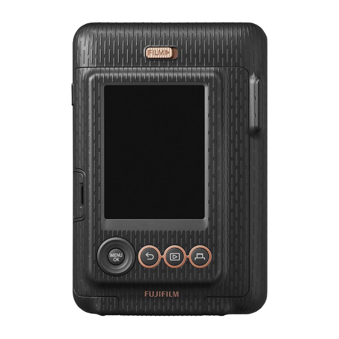 Cámara Fujifilm Instax Mini LiPlay Elegant + correa + funda, color Negro