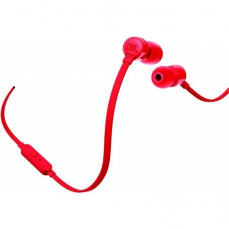 Auriculares de botón inalámbricos JBL T110, color Rojo