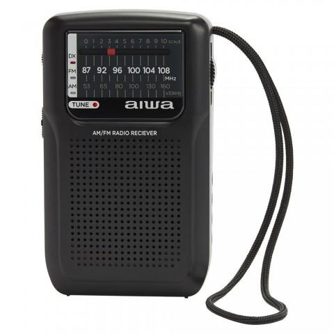 Radio de bolsillo AIWA RS-33 + Auriculares, color Negro