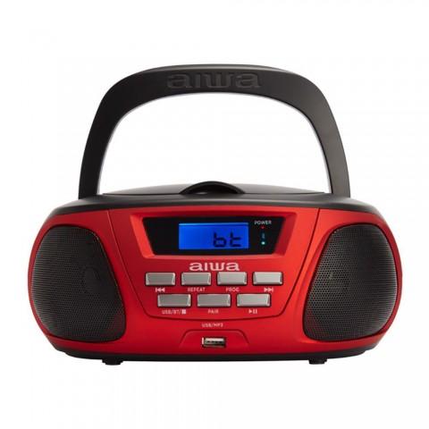 Radio portátil AIWA BBTU-300, CD, MP3, Boombox, color Rojo