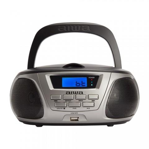 Radio portátil AIWA BBTU-300, CD, MP3, Boombox, color Negro