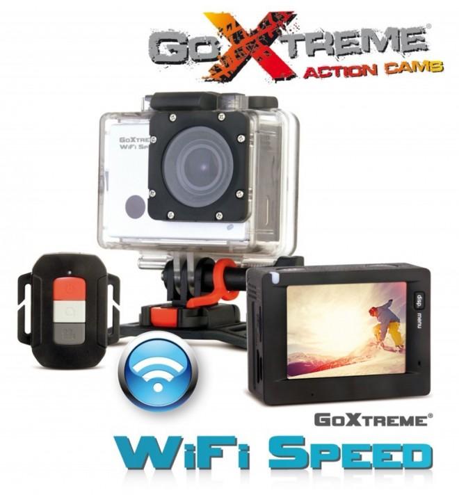 "GoXtreme WiFi Speed -– Cámara de acción, Full HD, pantalla 2"""", sumergible 45m, imagen 16 Mpx, mando, reloj"