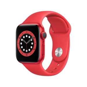 Apple Watch Series 6 GPS, 40 mm Caja de aluminio PRODUCT(RED) - Correa deportiva PRODUCT(RED) talla única