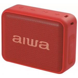 Radio portátil AIWA BS-200 TWS, 6W, USB, Radio, Bluetooth, color Rojo