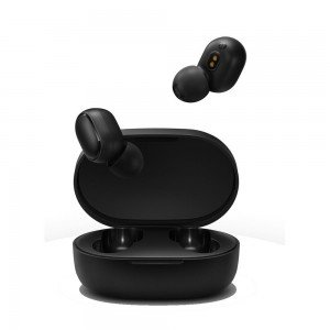 Auriculares de botón Xiaomi Mi True Wireless Earbuds Basic, color Negro