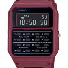 Reloj CASIO Vintage EDGY CA-53WF-4BEF, calculadora, color Rojo