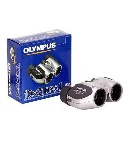 Olympus 10x21 DPC-I - Prismáticos, asféricas para distorsión mínima, color Plata